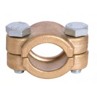Abrazadera latón de tornillo, Ø 19 mm