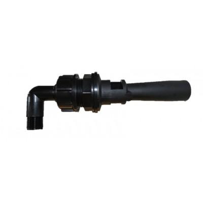 Agitador hidráulico inspeccionable curvo. Inyector Ø 1,5 mm
