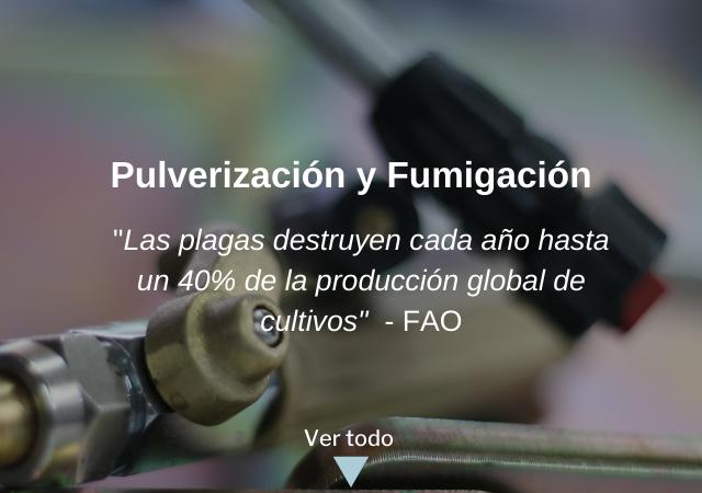 fumigación y pulverizacion de cultivos y huertos